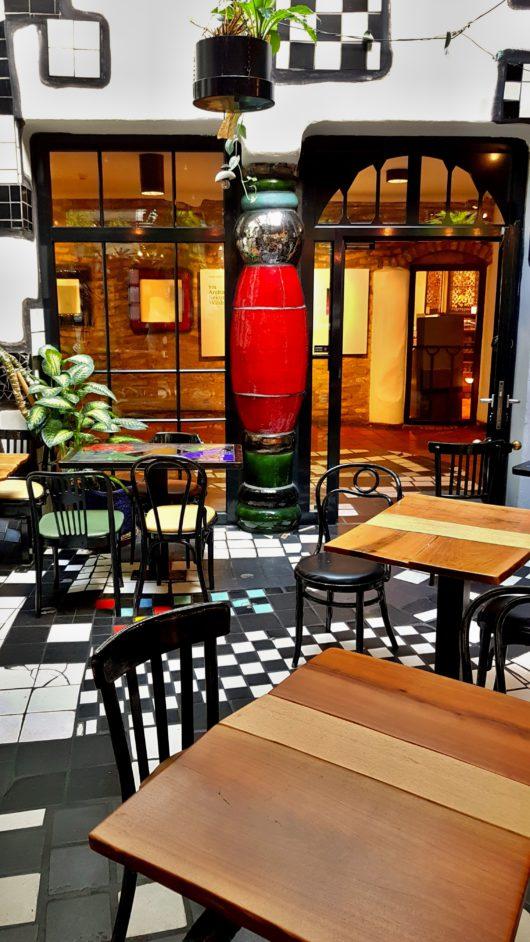 Hundertwasser Museum, kavárna