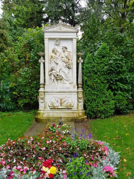 Hrob Franze Schuberta na Zentralfriedhof